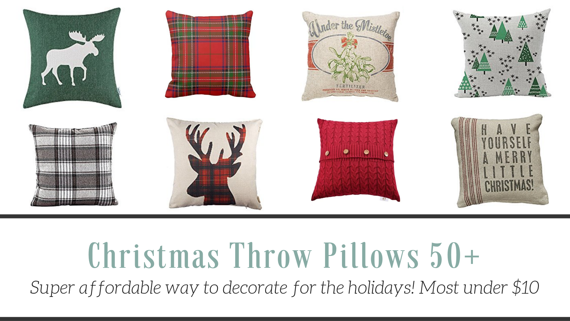 Christmas Throw Pillow Shopping Guide