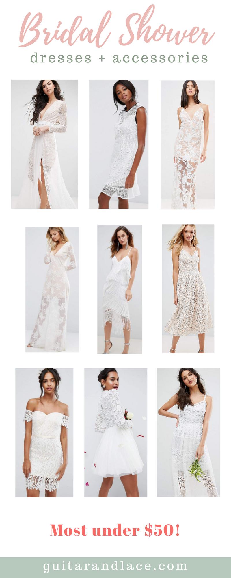 bridal shower dresses